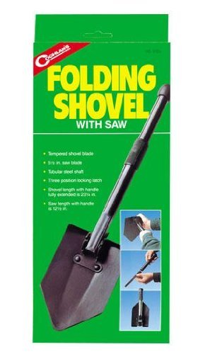 Coghlans Folding Shovel with Saw - Black by Coghlans ()