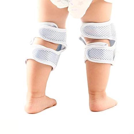 Calentador de Rodillas y Protector Antideslizante protecci/ón de Rodillas para ni/ños y ni/ñas dise/ño de Malla 3D Transpirable Codos y piernas Rodilleras para beb/é para Gatear YHuHY