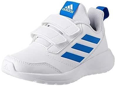 adidas Girls AltaRun CF Trainers, Footwear White/Blue/Footwear White, 4 US