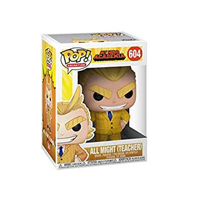 Funko 42932 POP! Vinyl MHA S3 - Teacher All Might My Hero Academia Collectible Figure, Standard, Multicolor: Toys & Games