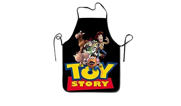 BathWang Toy Story - Delantal con Borde Negro: Amazon.es: Hogar