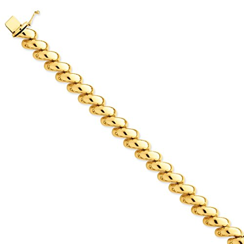 14k Yellow Gold San Marco Bracelet 7 Inch Fine Jewelry For Women Gift Set