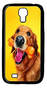 Rugged Samsung Galaxy S4 Case,Golden Retrievers Polycarbonate PC Plastic Hard Case Cover for Samsung Galaxy S4 Black