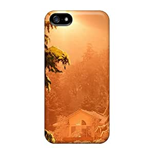 AngelineMS Snap On Hard Case Cover Winter Sunlight Protector For Iphone 5/5s