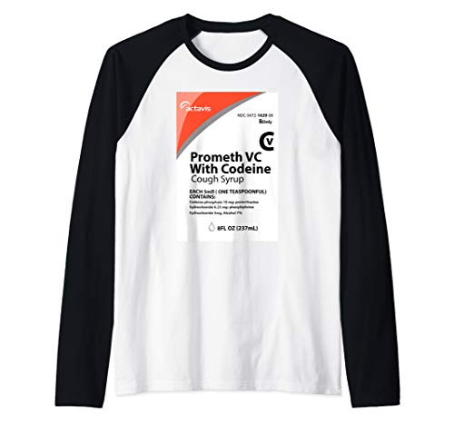 Codeine T-Shirt - Actavis Cough Syrup Purple Drank Shirt Raglan Baseball Tee
