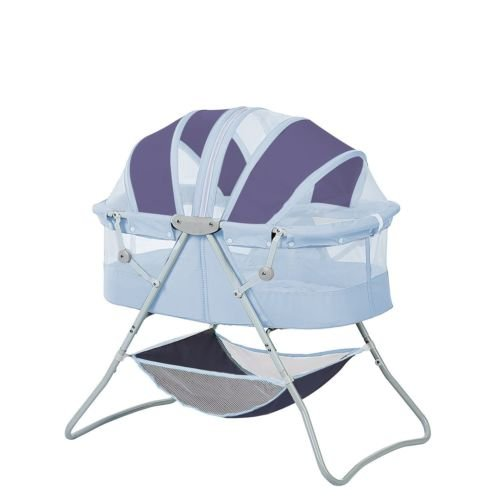 Newborn Dual Canopy Traveler Portable Bassinet Navy by Nikkycozie (Image #5)