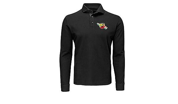 Polo de Manga Larga T-Shirt Deportiva Hombre Abarth 500 Team ...