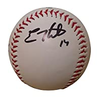 Los Angeles Dodgers Kike Enrique Hernandez Autographed Hand Signed Logo Baseball with Proof Photo and COA