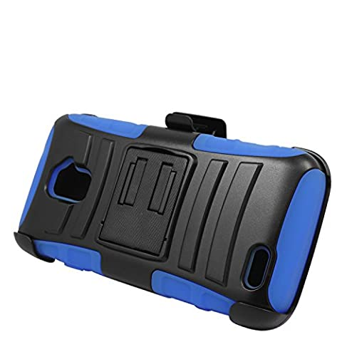 Eagle Cell ZTE Rapido LTE Z932L Hybrid Protective Case Stand/Belt Clip Holster - Retail Packaging - (Zte Rapido Phone Cases)
