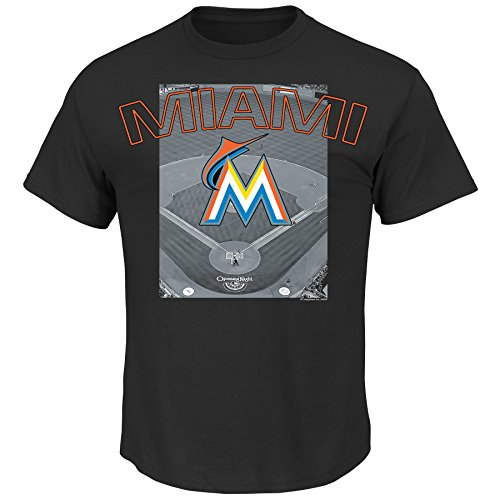MLB Miami Marlins Men's A Whole New Game Tee, Large, Black