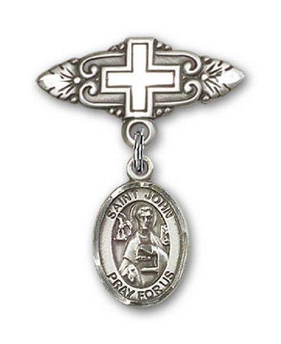 Icecarats Créatrice De Bijoux En Argent Sterling St. John La Broche De Badge Charme Apôtre Croix 1 X 3/4