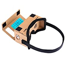 Google Cardboard, SARLAR 3D VR Headset DIY Goggles Virtual Reality Movies and Video Games Viewer Kit For All 3.0