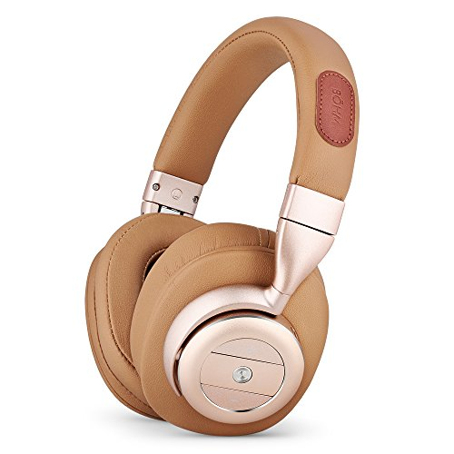 BÖHM Wireless Bluetooth Over Ear Cushioned Headphones with Active Noise Cancelling – B76 (Tan)