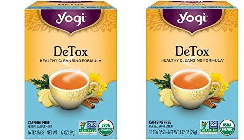 Yogi Herbal Tea Bags, Detox 16 ea ( pack of 2)