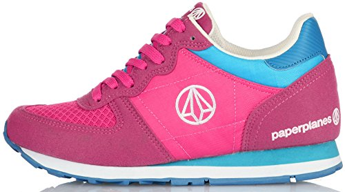 Paperplanes-1143 Moda Para Mujer Casual Suede Mesh Tall Up Sneakers Zapatos 1143-1-pink Mint