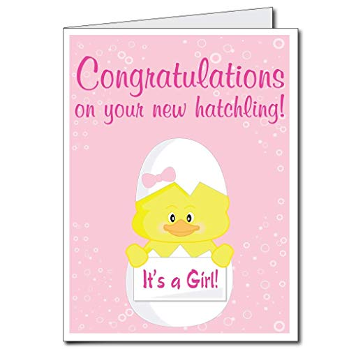 VictoryStore Jumbo Greeting Cards: Giant Baby Card (chick - girl) 2' x 3' card with envelop -