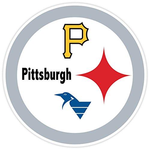 "PITTSBURGH Fan Sport Logo 4""x4"" Sticker Decal Vinyl STEELERS PENGUINS PIRATES by ZapZap Stickers"
