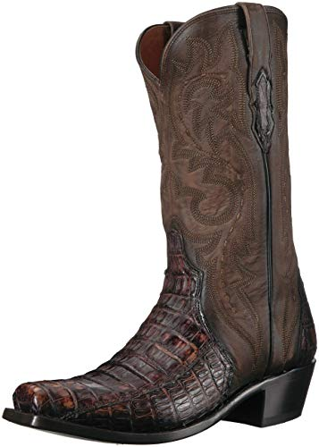 Lucchese Bootmaker Men's Dwight Western Boot, Maple, 9.5 D US (Boots Mens Maple)