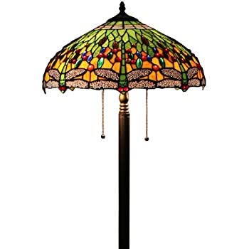 Tiffany Style Dragonfly Green Floor Lamp, 64 Inch by 18 Inch ...