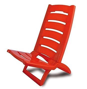 En Pliable Coloré Set Plastique Of 1 De Chaise Red Plage 1FKlcTJ