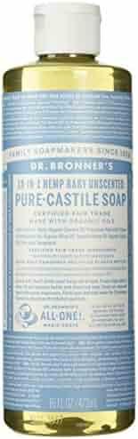 Dr. Bronner's Pure-Castile Liquid Soap (16 oz, Baby Unscented)