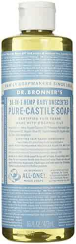 Dr. Bronner's Pure-Castile Liquid Soap (16 oz, Baby Unscented)