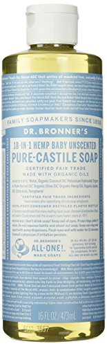 Dr. Bronner's Pure-Castile Liquid Soap - Baby Unscented 16oz.