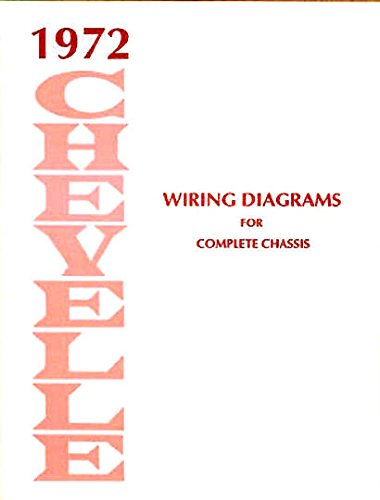 STEP-BY-STEP 1972 CHEVROLET CHEVELLE COMPLETE FACTORY SET OF ELECTRICAL WIRING DIAGRAMS & SCHEMATICS GUIDE - 8 PAGES. - Horn El Camino