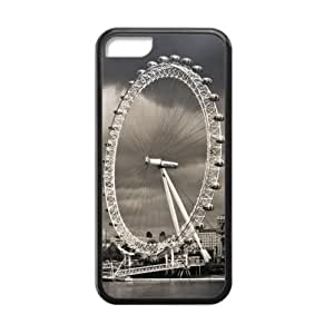 Classic London Eye Pattern Design Apple iphone 5C TPU (Laser Technology) Case, Cell Phone Cover