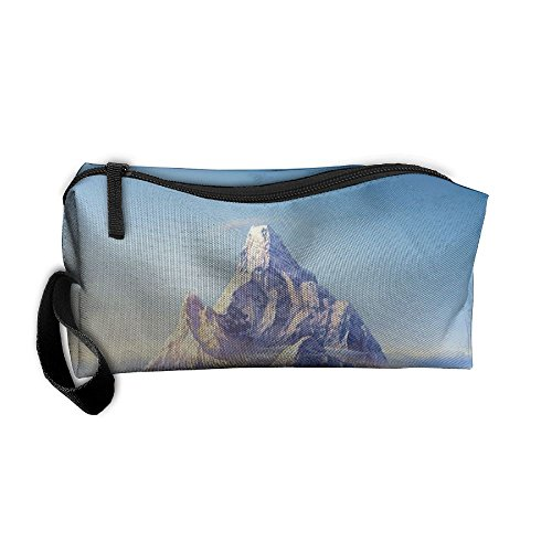 Kla Ju Portable Pen Bag Purse Pouch Snow Mountains Stationery Storage Organizer Cosmetic Holder
