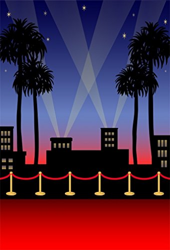AOFOTO 6x8ft Red Carpet Backdrop Movie Night Stage Fence Photography Background Award Ceremony Celebrity Event Party Premiere Banner Photo Studio Props Kid Adult Portrait Activity Decoration Wallpaper from AOFOTO