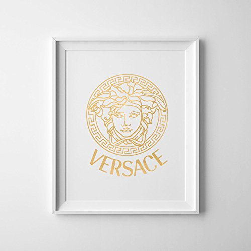 Versace Logo Art / Versace Logo Wall Art / Versace Logo / Versace Art / Gold Art / Versace Art / Versace Picture / Fashion Art Poster / Home - Versace Picture Of