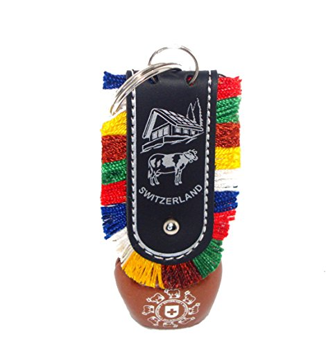 Discount4product Pure Metallic ANTIQ COW BELL Keychain Keyring]()