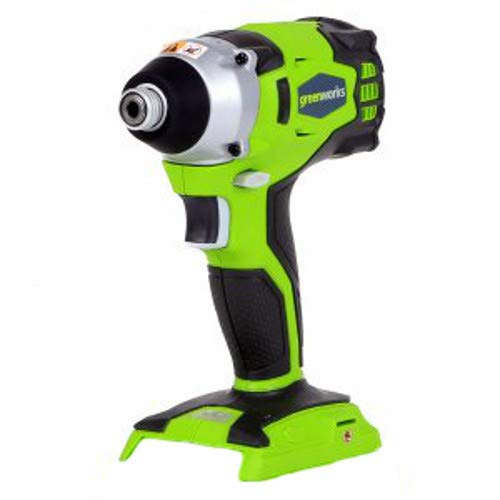 Greenworks 37042A 24V Cordless Impact Driver, Green ()