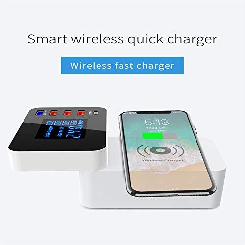 ZDNP Cargador de teléfono móvil Multi USB de 5 Puertos ...