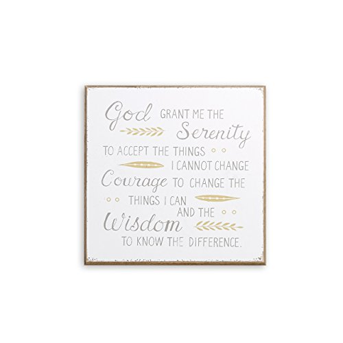 - DEMDACO Serenity Prayer Classic White 9 x 9 Wood Composite Wall Art Plaque Sign