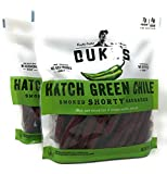 Dukes Hatch Green Chile Shorty Smoked Sausages - Pack of 2 Bags - 16 oz Per Bag (2 Bags, 32 oz Total)