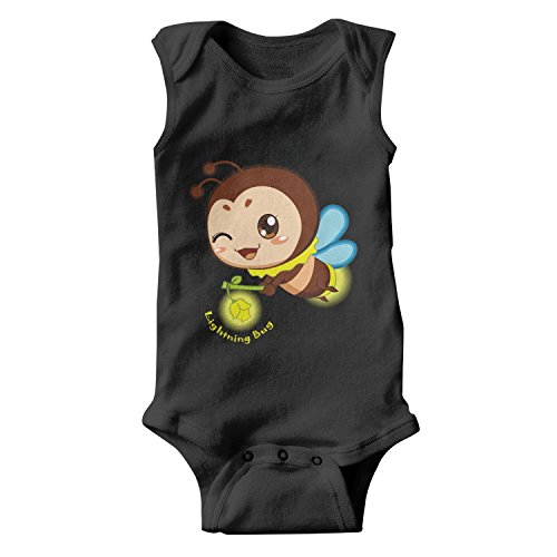 epoyseretrtgty Sleeveless Newborn Baby Lightning Bug Lovely Outfits ()