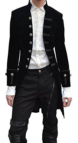 Velluto 7 Riga Con Aristocrate Felpa Nero Bottoni In Elegante fq54a