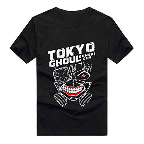 Tokyo Ghoul Anime Kaneki Ken Costume Short Sleeve T Shirt, Asian Size, Three Styles