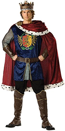 InCharacter Costumes Men's Noble King Costume, Burgundy/Blue, X-Large ()