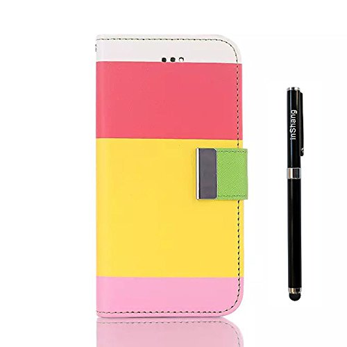 """inShang Colorful Rainbow case iPhone6 Plus 5.5 inch iPhone 6 Apple 5.5"""" mobile phone Pouch Stand Cover,With Useful Wallet Design + 1pc High end class business stylus Pen"""