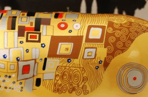 CowParade Klimt Cow Medium Ceramic by