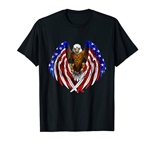 American Eagle Patriot T-Shirt US Flag With Eagle Gift Shirt