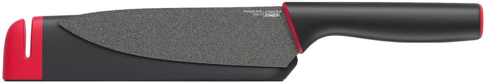 Joseph Joseph Slice and Sharpen 3.5 inch Paring Knife - Black/Red 10145