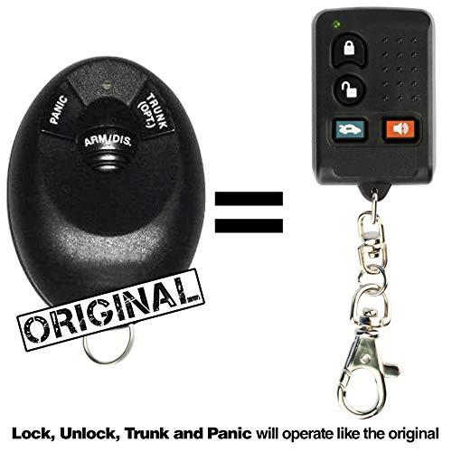 KeylessOption Keyless Entry Remote Start Car Key Fob Aftermarket Alarm for KARR CARR ELVAT5H Systems (Pack of 2)