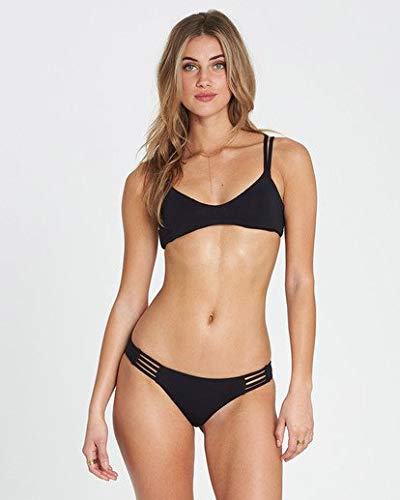 Billabong Women's Sol Searcher Crossback Bikini Top Black Pebble ()