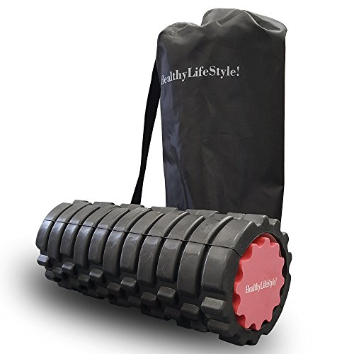HealthyLifeStyle Foam Roller, 2 in 1 Deep Tissue Massage AccuPoint Roller with Carrying Case
