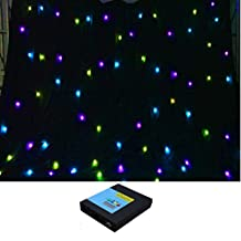 YISCOR 3m x 4m RGB 3in1 LED DMX512 Star Curtain Backdrop FULL COLOR Stage DJ Party Fireproof for Wedding Xmas Christmas Birthday Home Garden Party Effect