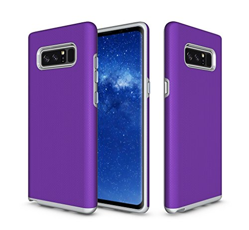 Bear Motion for Note 8 - Shockproof TPU/PC Cover Case for Samsung Galaxy Note 8 Smartphone 2017 Release (Purple)